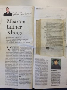 Luther is boos Trouw